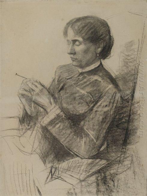 Portrait Of Madame La Comtesse Adèle De Toulouse Lautrec