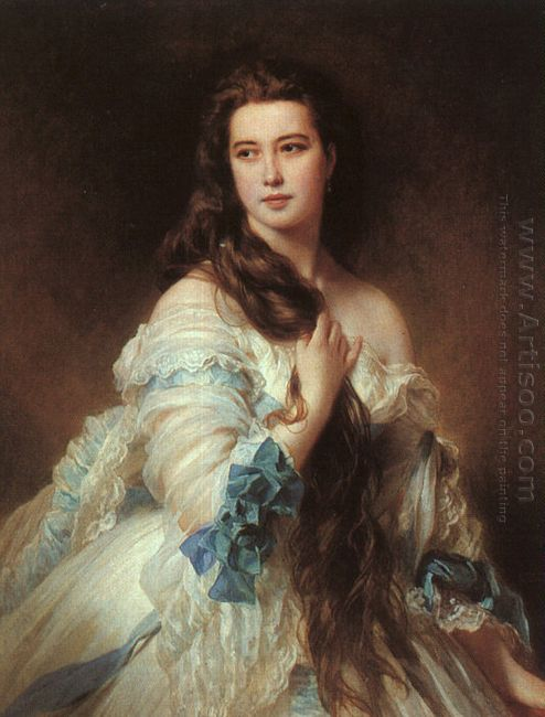 Portrait Of Madame Rimsky Korsakov Varvara Dmitrievna Mergassov