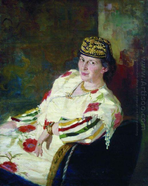 Portrait Of Mara Konstantinovna Oliv 1906