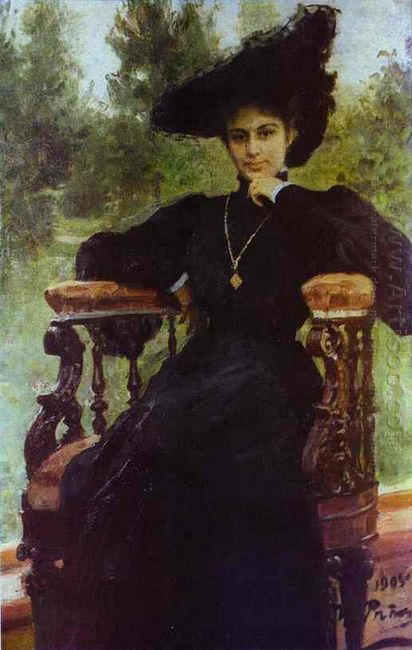 Portrait Of Maria Andreeva 1905