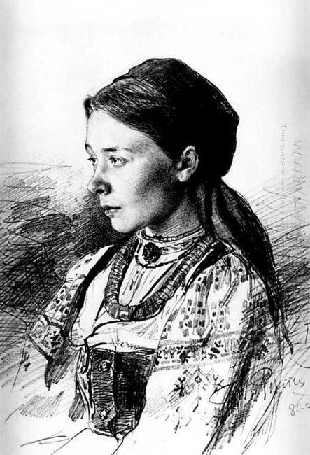 Portrait Of Maria Artsybasheva 1880