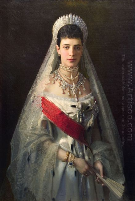 Portrait Of Maria Fyodorovna Born Princess Dagmar Of Denmark Wif