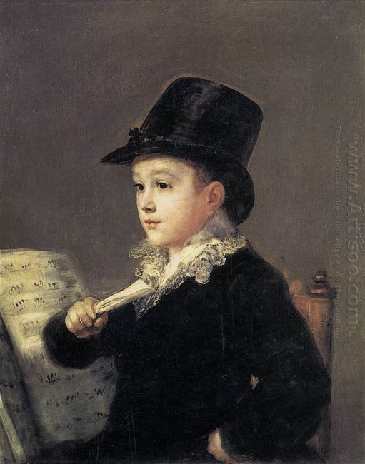 Portrait Of Mariano Goya 1814