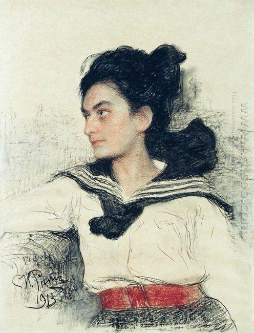 Portrait Of Maria Osipovna Lowenfeld 1913
