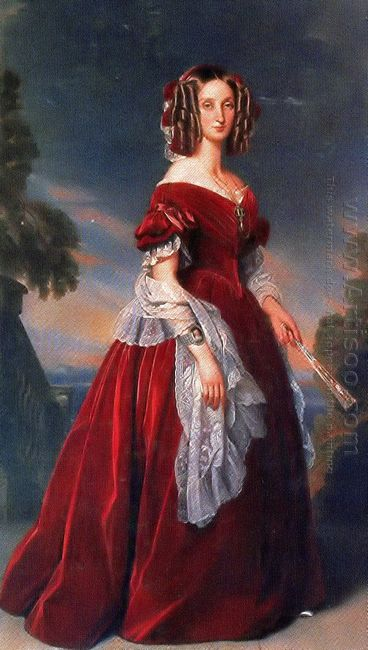 Portrait Of Marie Louise The First Queen Of The Belgians