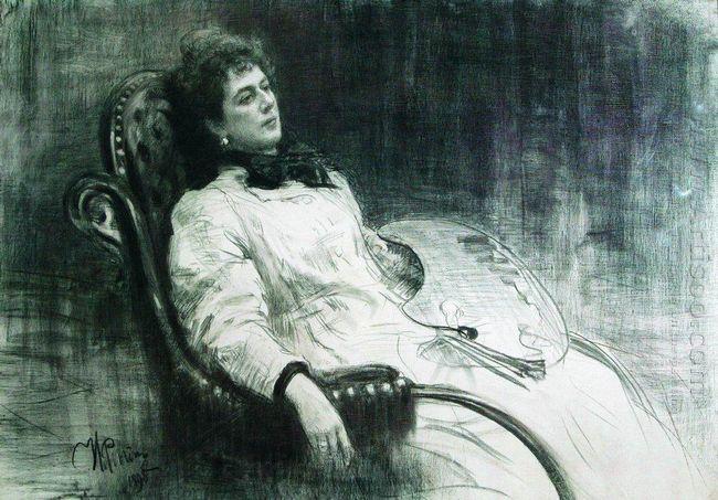 Portrait Of M K Tenisheva 1898