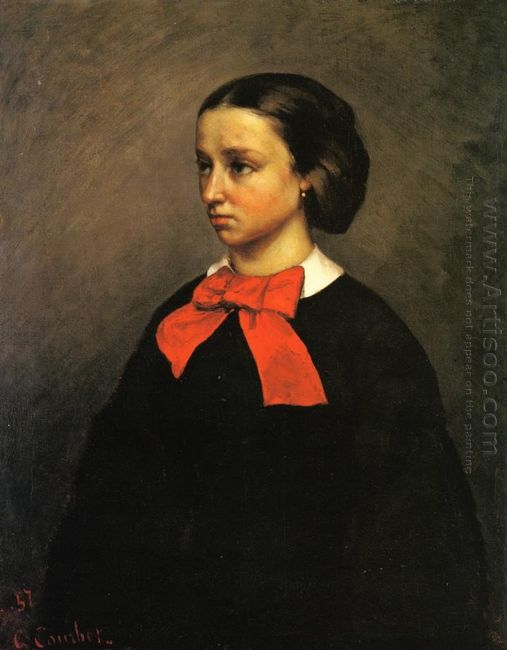 Portrait Of Mlle Jacquet 1857