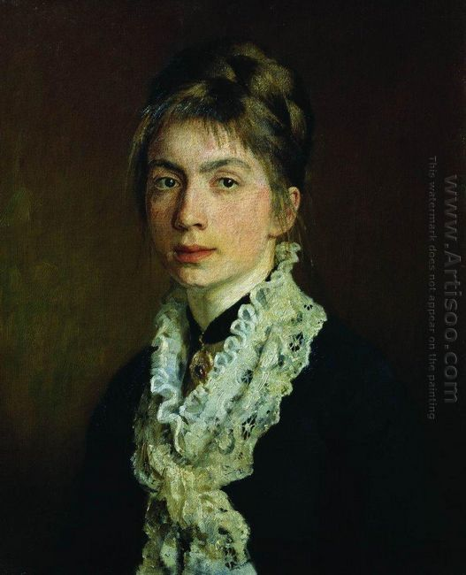 Portrait Of M P Shevtsova Wife Of A Shevtsov 1876