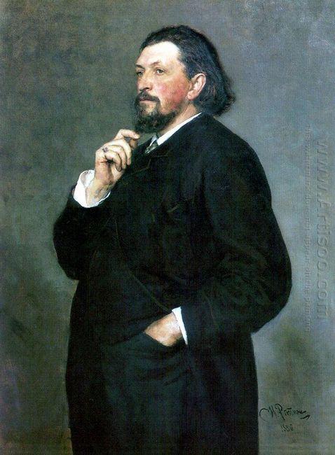 Portrait Of Music Editor And Patron Mitrofan Petrovich Belyayev