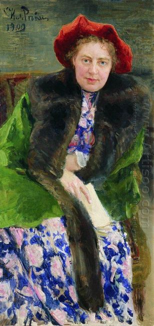 Portrait Of Nadezhda Borisovna Nordman Severova 1909