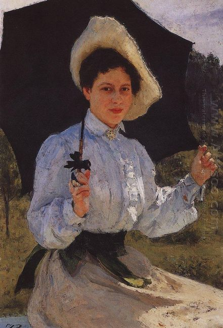 Portrait Of Nadezhda Repina The Artist S Daughter 1900