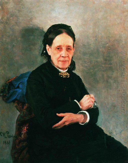Portrait Of Nadezhda Stasova 1884