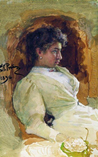 Portrait Of N I Repina 1896