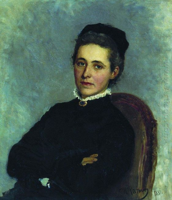Portrait Of Of Julia Bogdanovna Repman Born Krause Wife Of Dr A