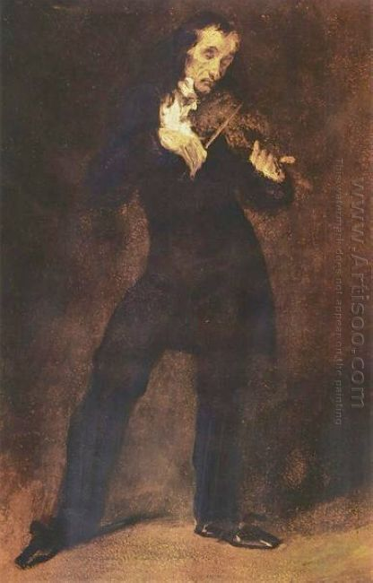 Portrait Of Paganini 1832
