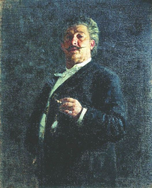 Portrait Of Painter And Sculptor Mikhail Osipovich Mikeshin 1888