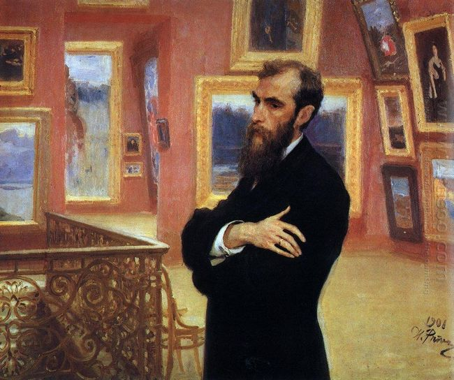 Portrait Of Pavel Tretyakov Founder Of The Tretyakov Gallery 190