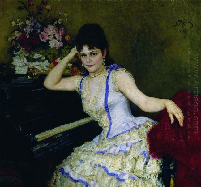 Portrait Of Pianist And Professor Of Saint Petersburg Conservato