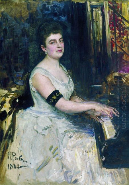 Portrait Of Pianist M K Benoit 1887