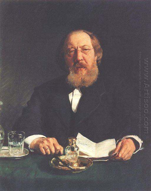 Portrait Of Poet And Slavophile Ivan Sergeyevich Aksakov 1878