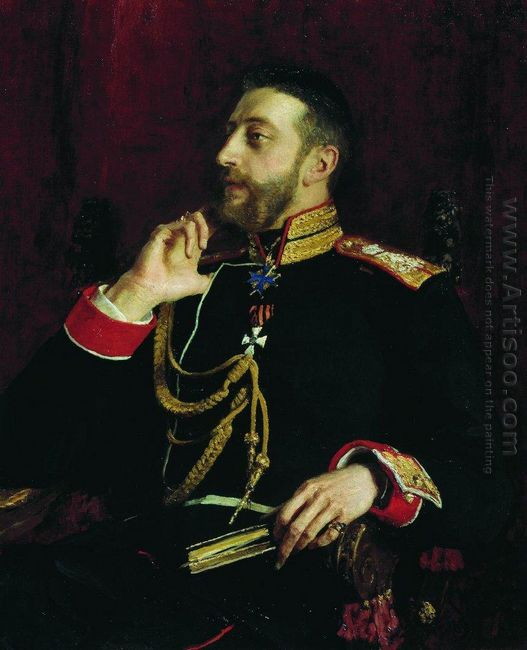 Portrait Of Poet Grand Prince Konstantin Konstantinovich Romanov