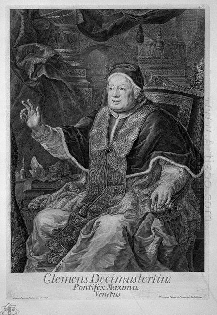 Portrait Of Pope Clement Xiii Clemens Decimustertius Venetus Pon