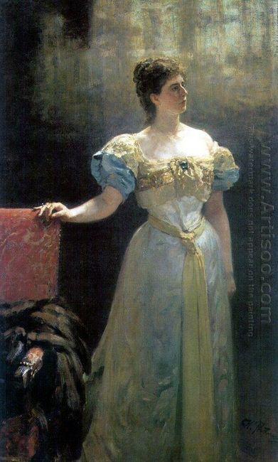 Portrait Of Princess Maria Klavdievna Tenisheva 1896