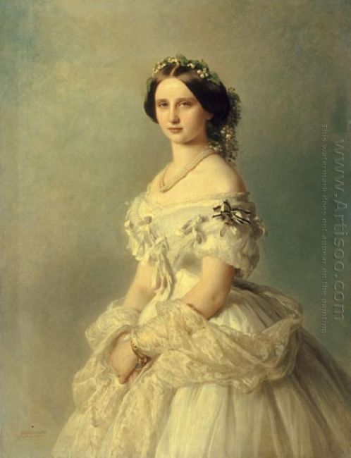 Portrait Of Princess Of Baden 1856