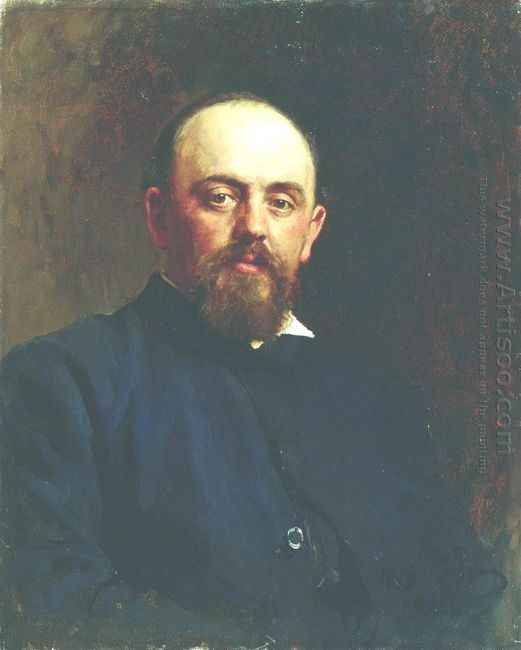 Portrait Of Railroad Tycoon And Patron Of The Arts Savva Ivanovi