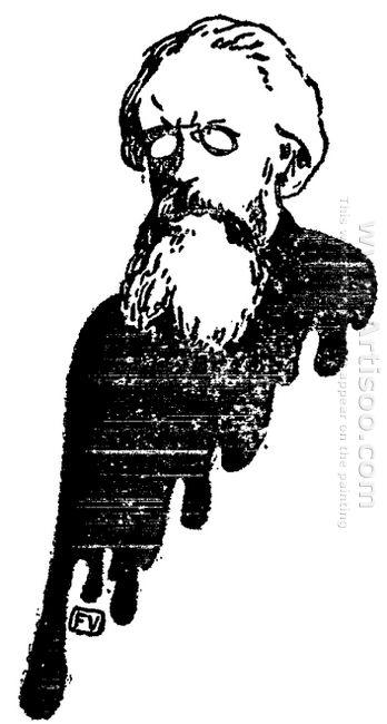 Portrait Of Russian Philosopher Nikolai Konstantinovich Mikhailo