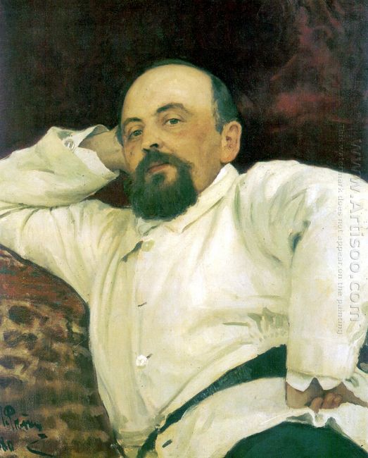 Portrait Of Savva Mamontov 1880