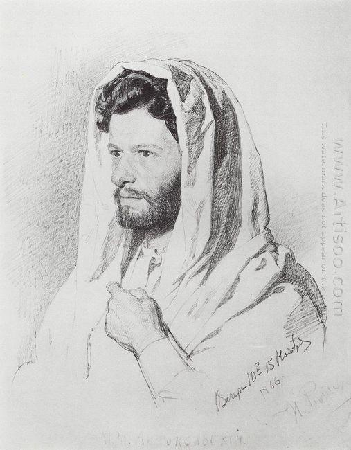 Portrait Of Sculptor Mark Matveevich Antokolski 1866