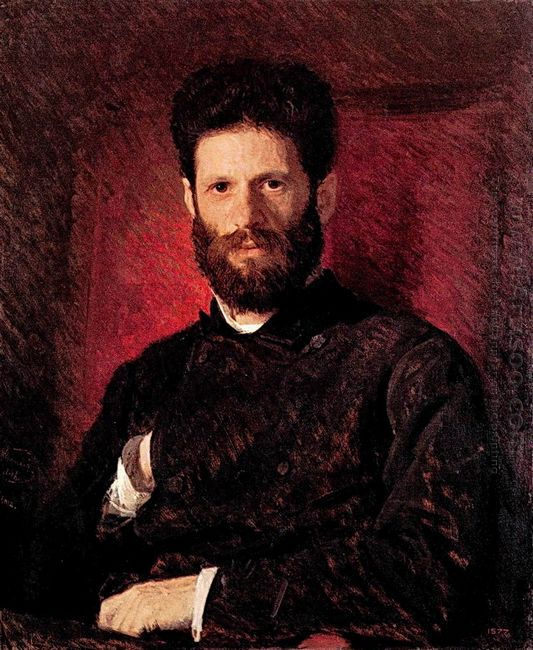 Portrait Of Sculptor Mark Matveevitch Antokolsky 1876