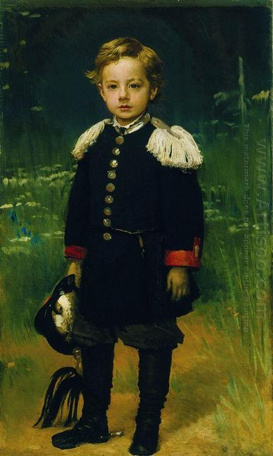 Portrait Of Sergei Kramskoy Son Of The Artist 1883