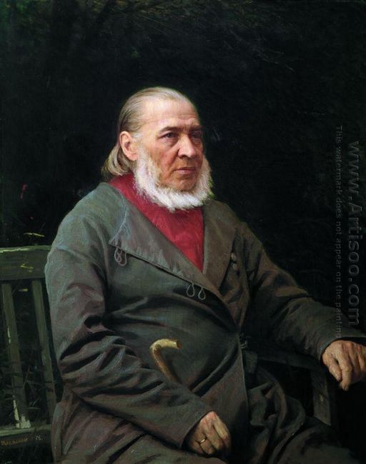 Portrait Of Sergei Timofeevich Aksakov 1878