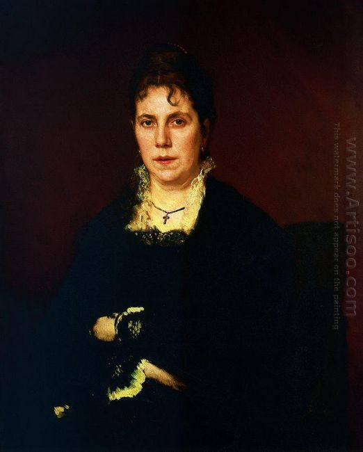 Portrait Of Sofia Nikolaevna Kramskoy The Artist S Wife 1879