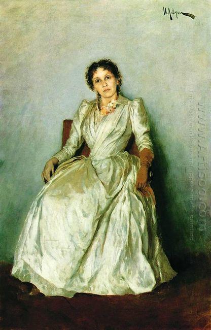 Portrait Of Sofia Petrovna Kuvshinnikov 1888