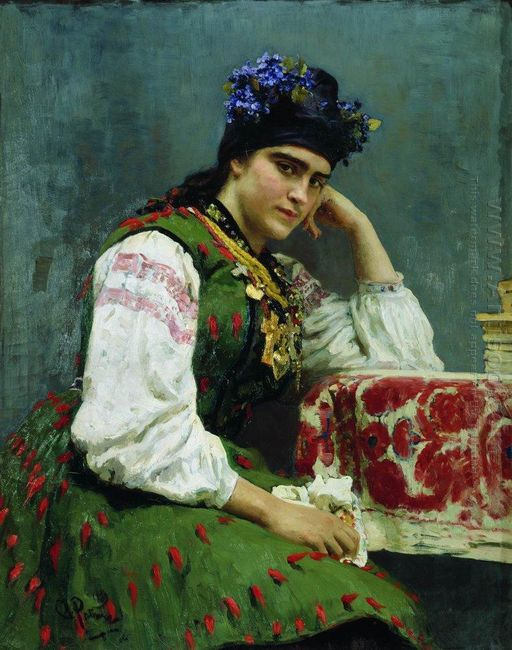 Portrait Of Sophia Dragomirova 1889
