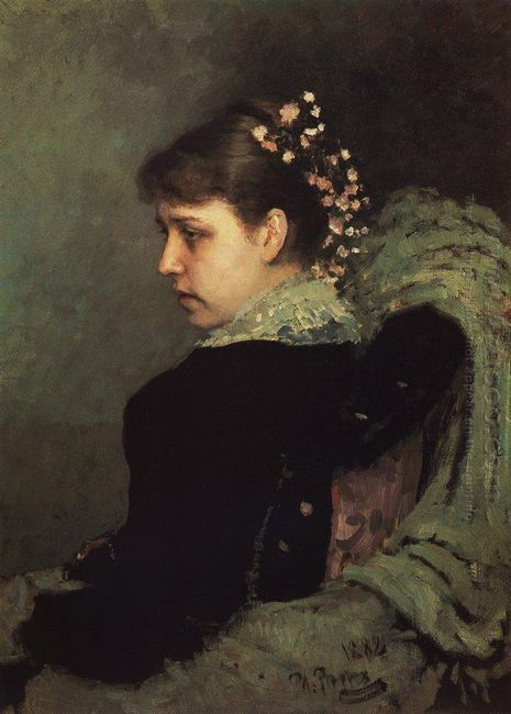 Portrait Of Tatiana Rechinskay 1882