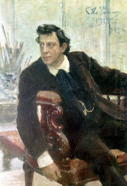 Portrait Of The Actor Pavel Samoylov 1915