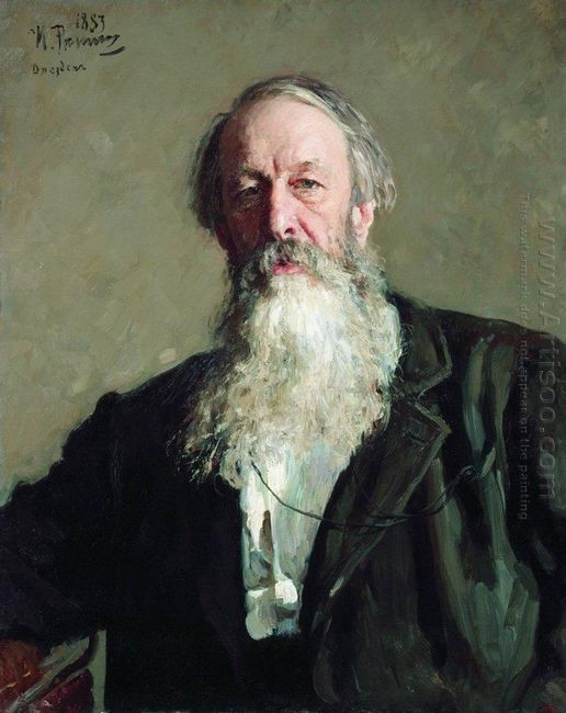 Portrait Of The Art Critic Vladimir Stasov 1883