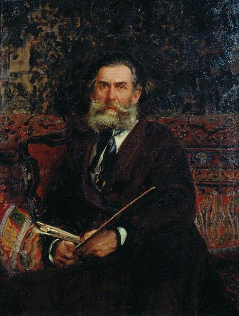 Portrait Of The Artist A P Bogolubov 1876