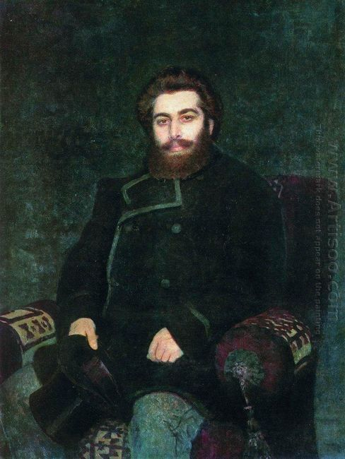 Portrait Of The Artist Arkhip Kuindzhi 1877
