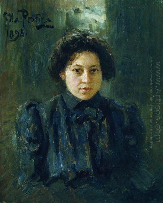 Portrait Of The Artist Daughter Nadezhda 1898