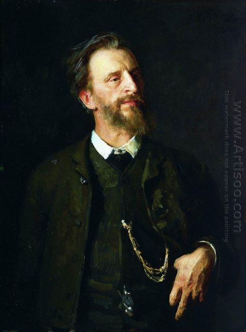 Portrait Of The Artist Grigory Myasoedov 1886