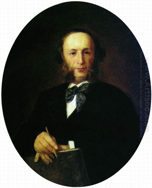 Portrait Of The Artist I K Aivazovsky