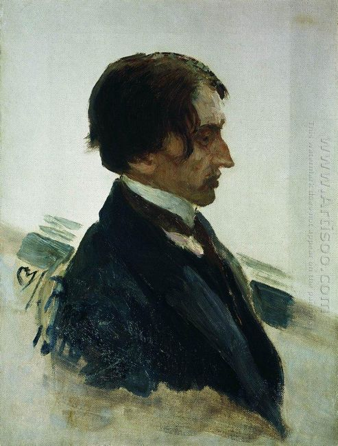 Portrait Of The Artist Isaak Brodskiy 1910