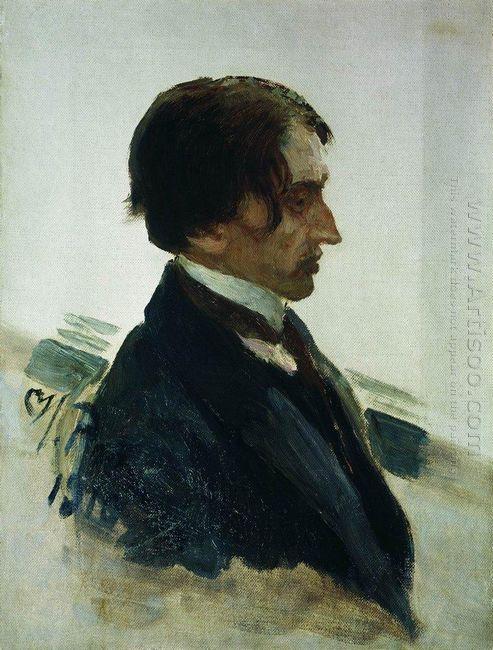 Portrait Of The Artist Isaak Brodskiy 1910