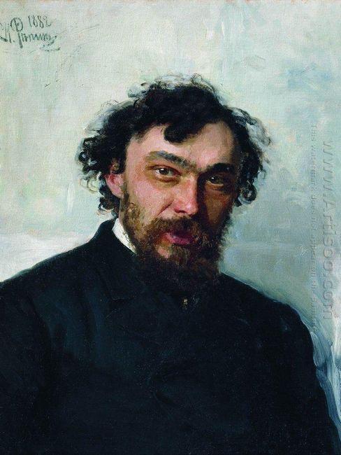 Portrait Of The Artist Ivan P Pohitonov 1882