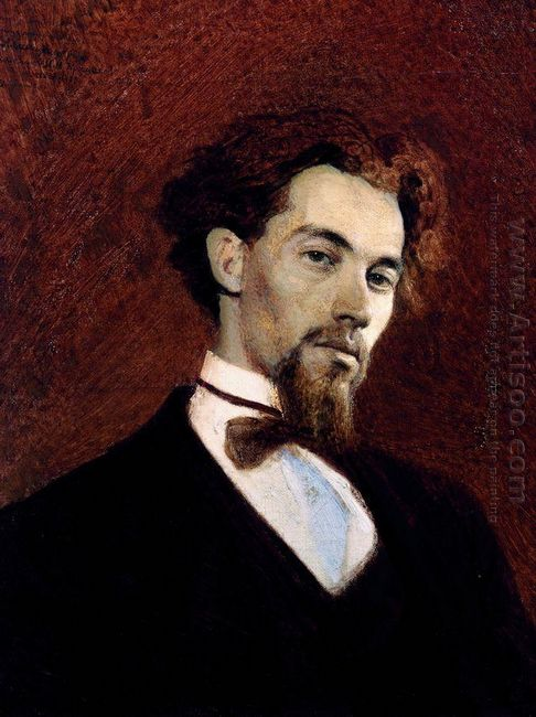 Portrait Of The Artist Konstantin Savitsky 1871